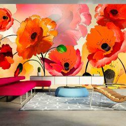 XXL Fotótapéta - Velvet poppies    500x280 cm