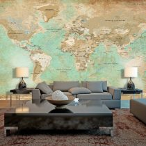 XXL Fotótapéta - Turquoise World Map II    500x280 cm