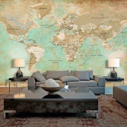 XXL Fotótapéta - Turquoise World Map II    500x280 cm