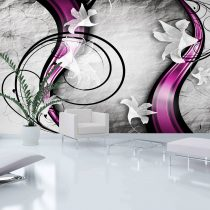 XXL Fotótapéta - Flowery Ribbon    500x280 cm