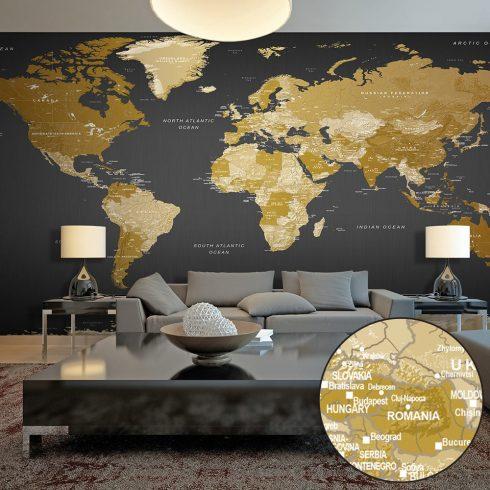 XXL Fotótapéta - World Map: Modern Geography II    500x280 cm  -  ajandekpont.hu