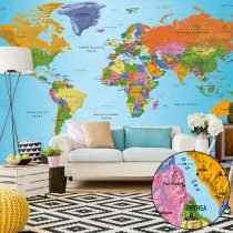 XXL Fotótapéta - World Map: Colourful Geography II    500x280 cm