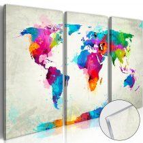 Akrilüveg kép - World Map: An Explosion of Colours [Glass]
