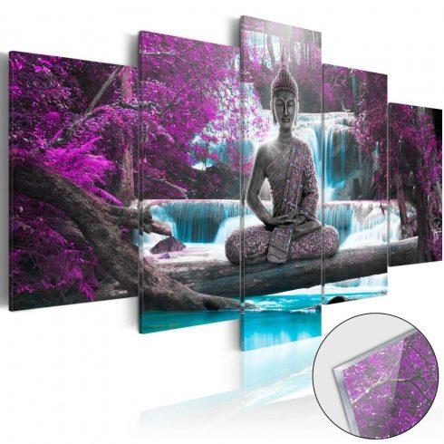 Akrilüveg-kép-Waterfall-and-Buddha-Glass - ajandekpont.hu