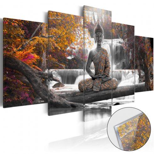 Akrilüveg-kép-Autumnal-Buddha-Glass - ajandekpont.hu