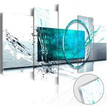 Akrilüveg kép - Turquoise Expression [Glass]