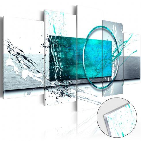 Akrilüveg-kép-Turquoise-Expression-Glass - ajandekpont.hu