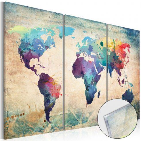 Akrilüveg kép - Rainbow Map [Glass]  -  ajandekpont.hu