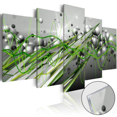 Akrilüveg-kép-Green-Rhythm-Glass - ajandekpont.hu