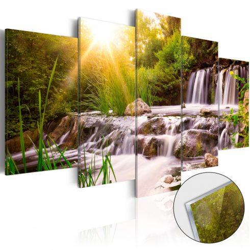 Akrilüveg kép - Forest Waterfall [Glass]  -  ajandekpont.hu