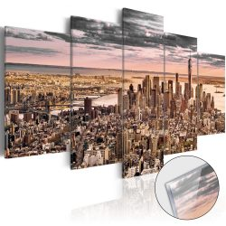 Akrilüveg kép - New York City: Morning Sky [Glass]