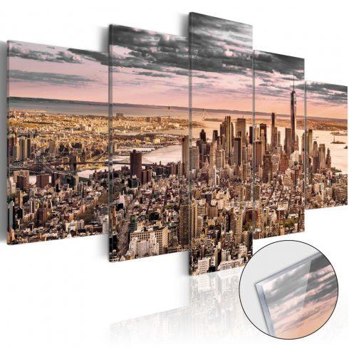 Akrilüveg-kép-New-York-City-Morning-Sky-Glass - ajandekpont.hu
