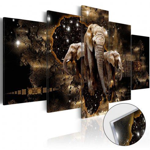 Akrilüveg-kép-Brown-Elephants-Glass - ajandekpont.hu