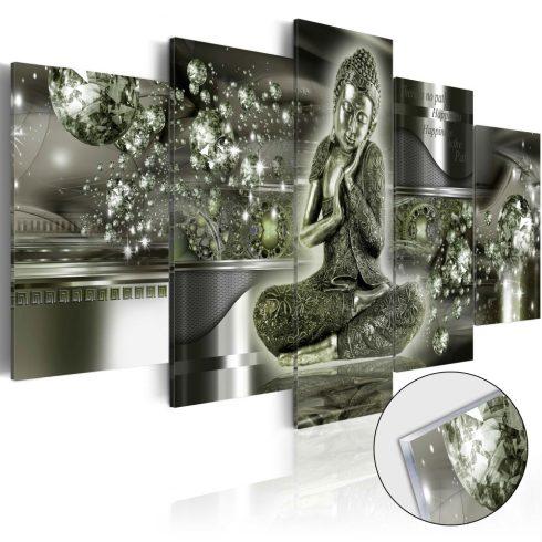 Akrilüveg-kép-Emerald-Buddha-Glass - ajandekpont.hu