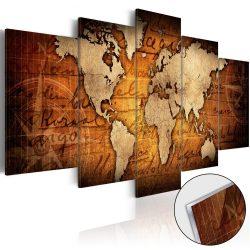 Akrilüveg kép - Acrylic prints – Bronze map I