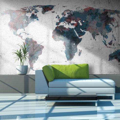 Fotótapéta - World map on the wall ll  -  ajandekpont.hu