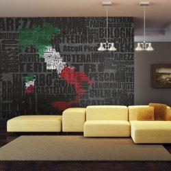 Fotótapéta - Text map of Italy