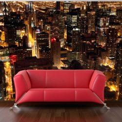 Fotótapéta - Város éjszaka - Chicago, USA