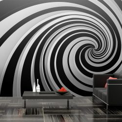 XXL Fotótapéta - Black and white swirl    550x270 cm