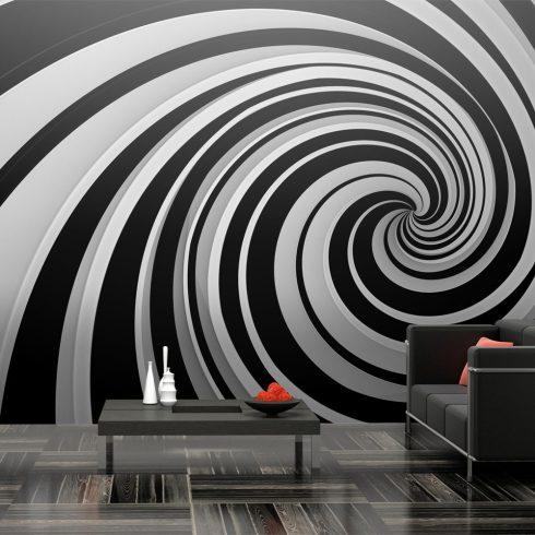 XXL Fotótapéta - Black and white swirl    550x270 cm  -  ajandekpont.hu