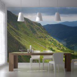 XXL Fotótapéta - Green mountain landscape 550x270 cm
