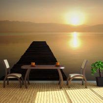 XXL Fotótapéta - jetty, lake, sunset...    550x270 cm