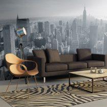 XXL Fotótapéta - New York City skyline fekete-fehér    550x270 cm