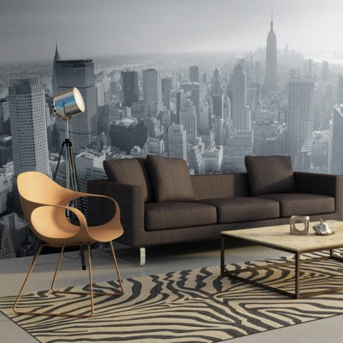 XXL Fotótapéta - New York City skyline fekete-fehér    550x270 cm  -  ajandekpont.hu