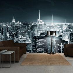 XXL Fotótapéta - New York City éjszakai élet    550x270 cm