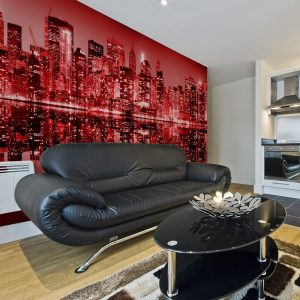 XXL Fotótapéta - Red-hot NYC    550x270 cm