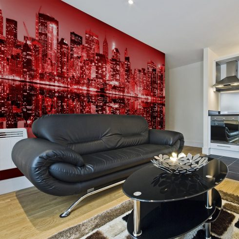 XXL Fotótapéta - Red-hot NYC    550x270 cm  -  ajandekpont.hu