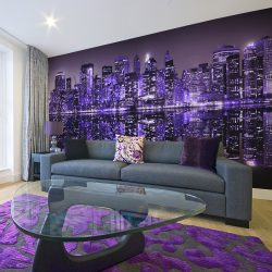 XXL Fotótapéta - American violet    550x270 cm