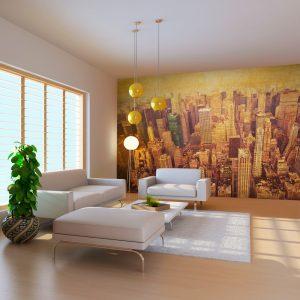 XXL Fotótapéta - New York City a szépia    550x270 cm