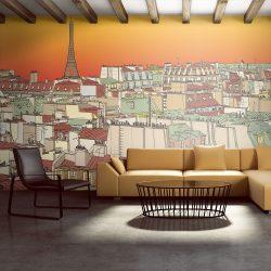 XXL Fotótapéta - Reggel kávét Párizsban    550x270 cm