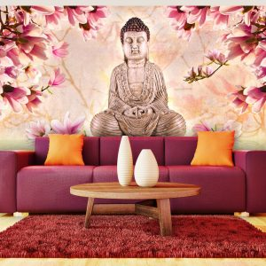XXL Fotótapéta - Buddha and magnolia    550x270 cm