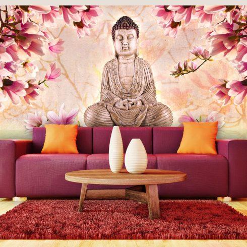 XXL Fotótapéta - Buddha and magnolia    550x270 cm  -  ajandekpont.hu