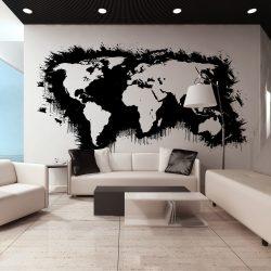 XXL Fotótapéta - Fehér kontinensen fekete óceánok ...    550x270 cm