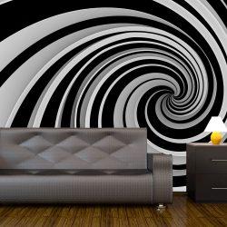 Fotótapéta - Black and white swirl