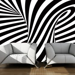 Fotótapéta - optical art: black and white