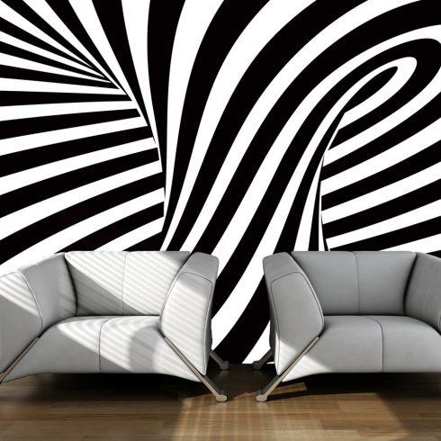 Fotótapéta - optical art: black and white  -  ajandekpont.hu