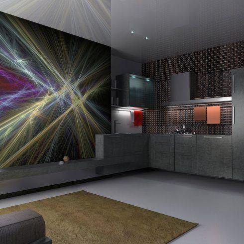 Fotótapéta - rays (colorful design)  -  ajandekpont.hu