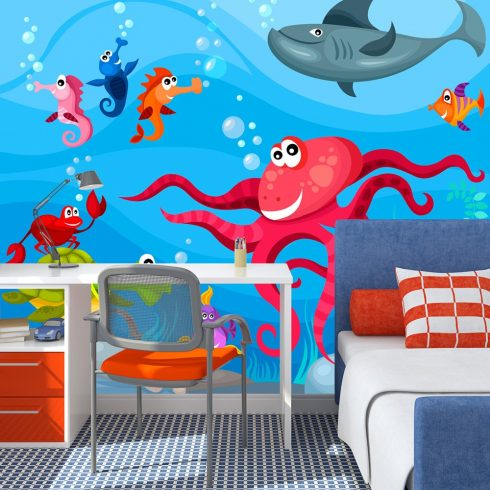 Fotótapéta - Octopus and shark  -  ajandekpont.hu