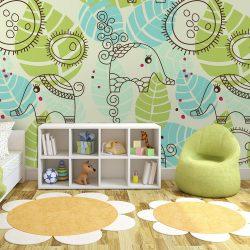 Fotótapéta - elephants (for children)