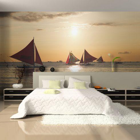 Fotótapéta - sailing boats - sunset  -  ajandekpont.hu