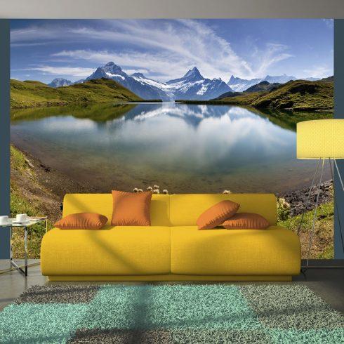 Fotótapéta - Tó hegyi reflexió, Svájc  -  ajandekpont.hu
