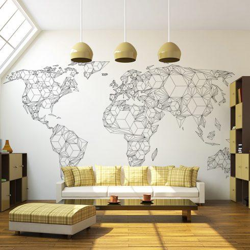 Fotótapéta - Map of the World - white solids  -  ajandekpont.hu