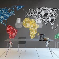 Fotótapéta - Map of the World - colorful solids