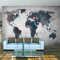 Fotótapéta - World map on the wall l