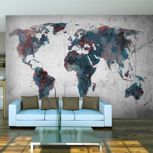 Fotótapéta - World map on the wall l  -  ajandekpont.hu