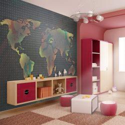 Fotótapéta - map (for children) l